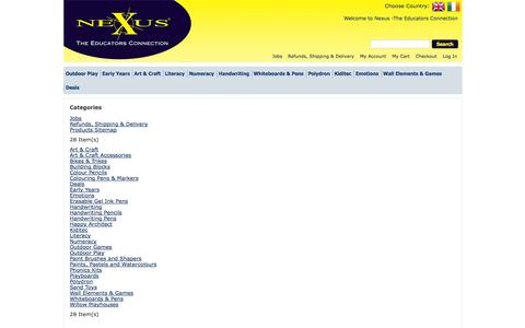 Screenshot of Site Map Page nexus-euro.co.uk - Welcome to Nexus -The Educators Connection - captured Oct. 6, 2014
