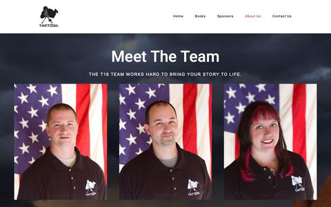 Screenshot of Team Page tactical16.com - Meet The Team – Tactical 16 – Publishing - captured Oct. 19, 2018