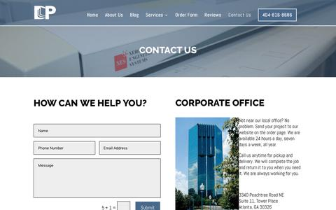 Screenshot of Contact Page document-pros.com - Contact Us | 404-816-8686 | Document Pros - captured Oct. 17, 2017