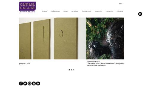 Screenshot of Home Page camaraoscura.net - Camara Oscura Galeria de Arte - captured Sept. 30, 2018