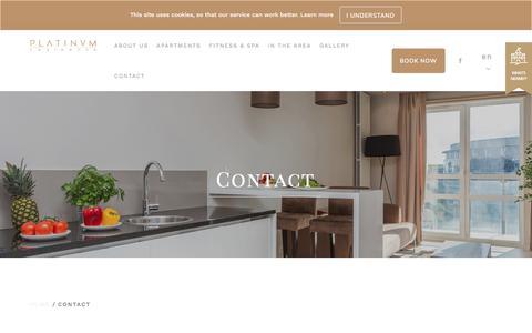 Screenshot of Contact Page platinumresidence.com - Contact - captured July 19, 2018