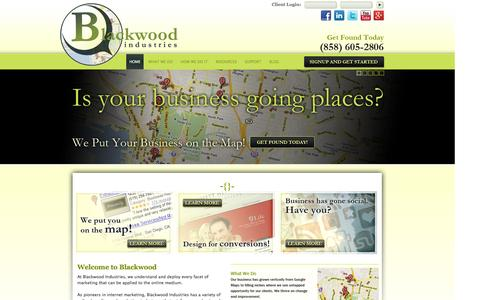 Screenshot of Home Page bwindustries.com - Google Local Optimization & Search Engine Marketing Experts | Blackwood Industries - captured Oct. 5, 2014