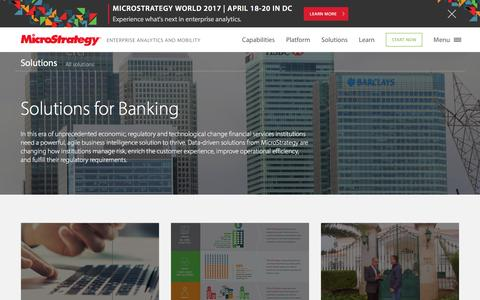 Analytics solutions for Banking and Financial Institutions | MicroStrategy