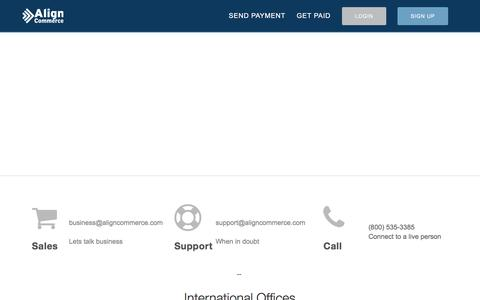 Screenshot of Contact Page aligncommerce.com - Align Commerce - Contacts - captured July 25, 2016