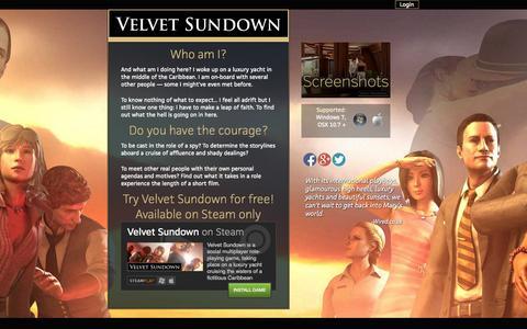 Screenshot of Home Page velvetsundown.com - Velvet Sundown : Velvet Sundown - captured Oct. 11, 2015