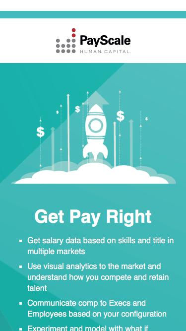 Screenshot of Landing Page  payscale.com - Request a Demo