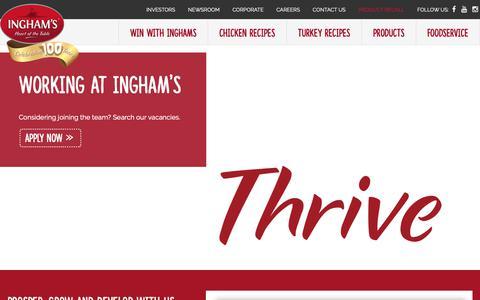 Screenshot of Jobs Page inghams.com.au - Working at Ingham's - Ingham's Chicken - captured Oct. 12, 2018