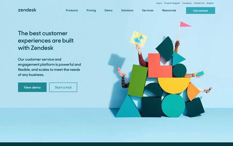 Screenshot of Home Page zendesk.com - Zendesk   Customer Service Software & Support Ticket System - captured April 23, 2018