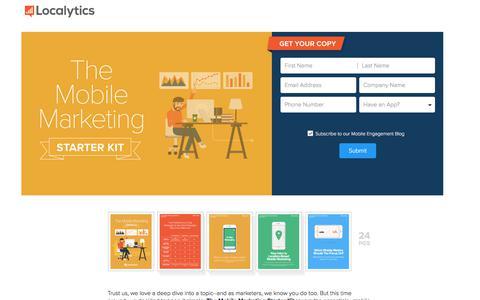 Screenshot of Landing Page localytics.com - The Mobile Marketing Starter Kit - captured March 3, 2018