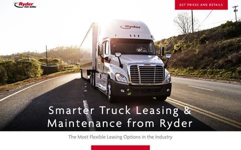 Screenshot of Landing Page ryder.com - Flexible Truck Leasing Solution - Ryder - captured Oct. 3, 2018