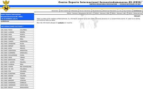 Screenshot of Privacy Page secuestrodemenores.es - Centro Experto Internacional Secuestrodemenores.ES (CEIS)  » Privacy - captured March 25, 2016