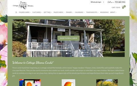 Screenshot of Home Page wpengine.com - Home - Cottage Blooms Cards - captured Sept. 18, 2015