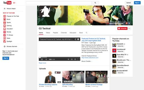 Screenshot of YouTube Page youtube.com - C2 Tactical  - YouTube - captured Oct. 22, 2014