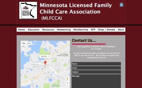 Screenshot of Contact Page mlfcca.org - Contact MLFCCA - captured April 24, 2017