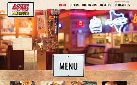 Screenshot of Menu Page logansroadhouse.com - All Menus | Logan's Roadhouse - captured Dec. 2, 2017