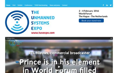 Screenshot of Home Page tusexpo.com - The Unmanned Systems Expo (TUSExpo) | 4-6 February 2015  Tusexpo - captured Aug. 13, 2015