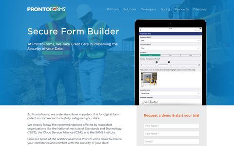Secure Form Builder | ProntoForms