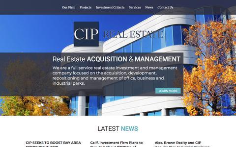 Screenshot of Home Page ciprealestate.com - Home - CIP Real Estate - captured July 14, 2018