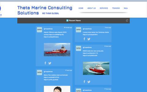 Screenshot of Press Page thetamarine.net - Consulting, audits, training, assessments, ECDIS, ELearning - captured Nov. 17, 2017