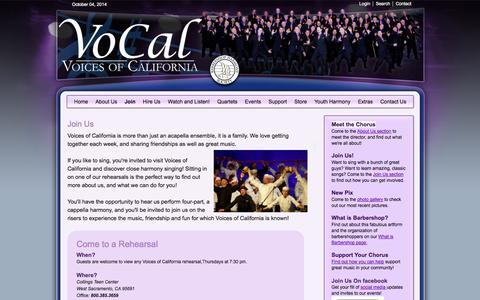 Screenshot of Signup Page voicesofcalifornia.org - Voices of California  ::  Join us - captured Oct. 4, 2014