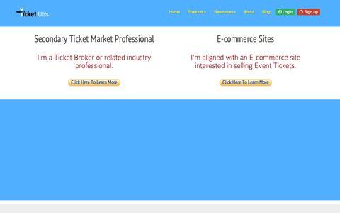 Screenshot of Signup Page ticketutils.com - TicketUtils :: Signup - captured Feb. 15, 2016