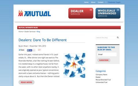 Screenshot of Blog mutualoil.com - Blog | Mutual Oil - captured Oct. 9, 2014