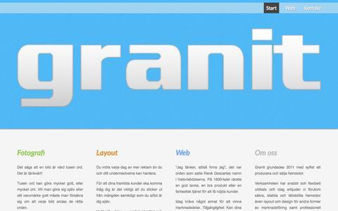 Screenshot of Home Page studiogranit.com - Start - Granit - captured Oct. 3, 2014