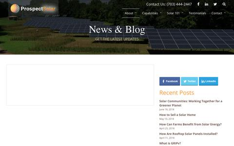 Screenshot of Blog prospectsolar.com - News & Blog | Prospect Solar - captured July 22, 2018