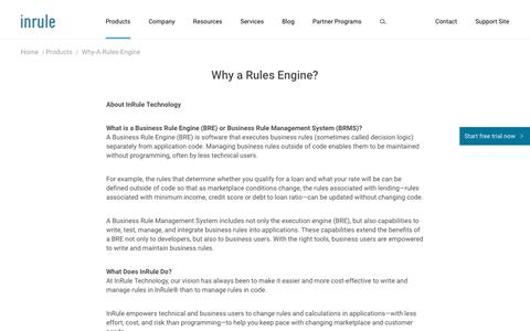 Why a Business Rule Engine | What's a BRMS | InRule Technology
