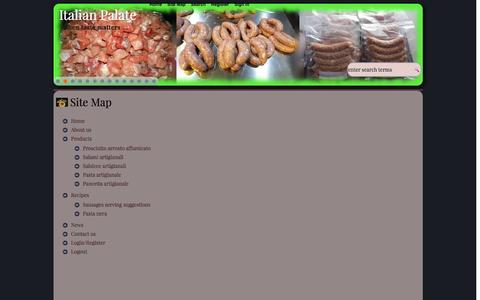Screenshot of Site Map Page italianpalate.com - Site Map - Italian Palate - captured Sept. 30, 2014