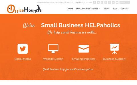 Screenshot of Home Page officehounds.com - Small business help - social media, website design & business support - captured Nov. 12, 2017