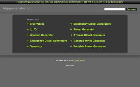 Screenshot of Home Page big-generator.com - Big-Generator.com - captured Oct. 11, 2015