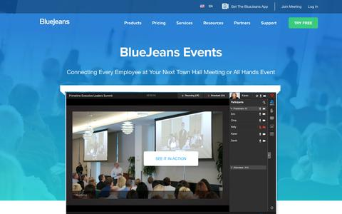 BlueJeans Events | BlueJeans Network