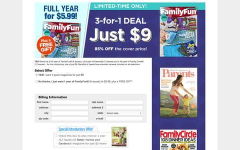 Screenshot of Landing Page parents.com - Parents - Order Page - captured Aug. 23, 2016