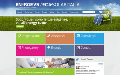 Screenshot of Home Page energeos.it - ENERGEOS | Soluzioni Energetiche Innovative - captured Sept. 30, 2014