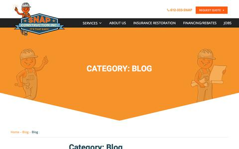 Screenshot of Blog snapconstruction.com - Blog Archives - Snap Construction - captured April 9, 2018