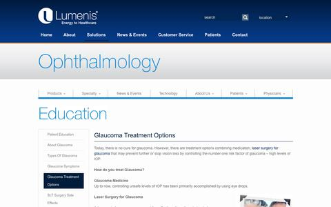Glaucoma Treatment Options - How Do You Treat Glaucoma | Lumenis Ophthalmic Lasers
