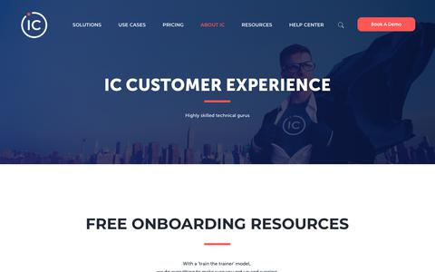 Screenshot of Support Page icthrive.com - IC Customer Experience - Here To Help You Build A Thriving Workplace - captured June 15, 2019