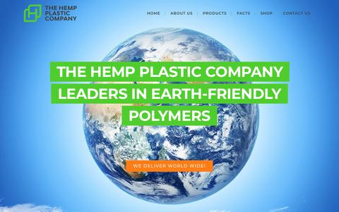 Screenshot of Contact Page hempplastic.com - Contact - Hemp Plastic - captured Dec. 8, 2018