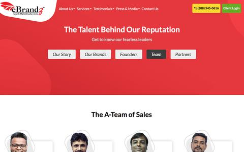 Screenshot of Team Page ebrandz.com - eBrandz™ - Our Team - The Talent Behind Our Reputation - captured July 24, 2019