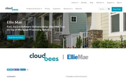 Screenshot of Case Studies Page cloudbees.com - Fast, Secure Software Delivery Helps Ellie Mae Stay on Top of Mortgage Processing Industry | CloudBees - captured Aug. 8, 2018
