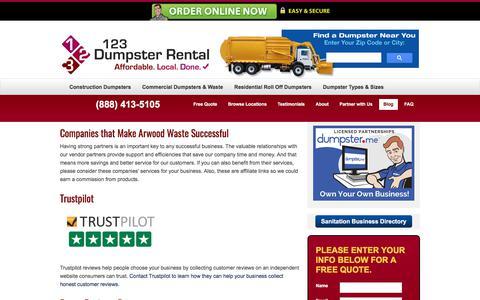 Screenshot of Blog 123dumpsterrental.com - Blog   Commercial, Residential Roll Off, Construction Demolition Dumpsters   Local Dumpster Rentals – (888) 413-5105 Toll Free   123 Dumpster Rental - captured Sept. 30, 2017