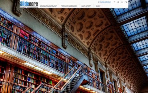 Screenshot of Home Page slidecore.com - SlideCore - captured Jan. 28, 2015