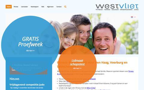 Screenshot of Home Page westvliet.nl - Fitness in Voorburg Leidschendam? Start nu Gratis! - captured Nov. 9, 2017