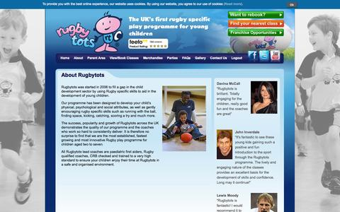 Screenshot of About Page rugbytots.co.uk - Rugbytots - About Us - Rugbytots - captured Oct. 9, 2014