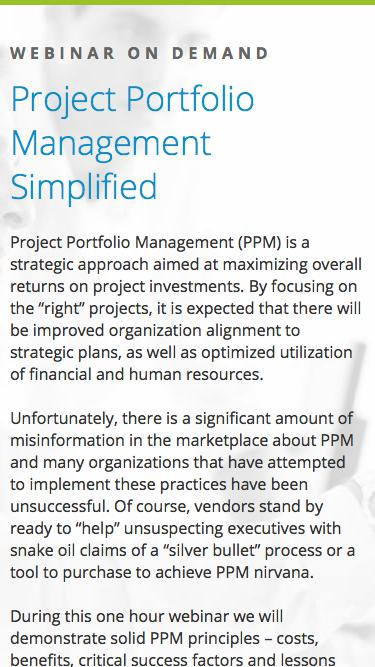 Eclipse PPM Webinar: Project Portfolio Management Simplified
