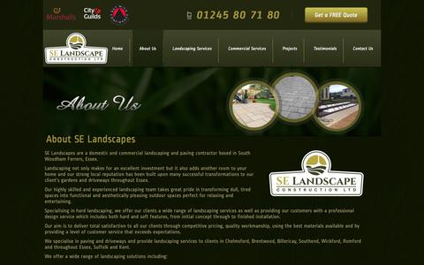 Screenshot of About Page selandscapeconstruction.co.uk - About Us -SE Landscape Construction Ltd - captured Oct. 18, 2018