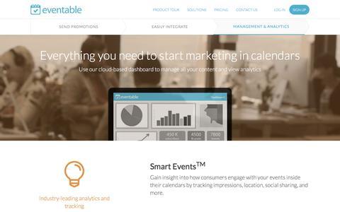 Screenshot of Team Page eventable.com - Management & Analytics » Product Tour | Eventable - captured Dec. 12, 2015