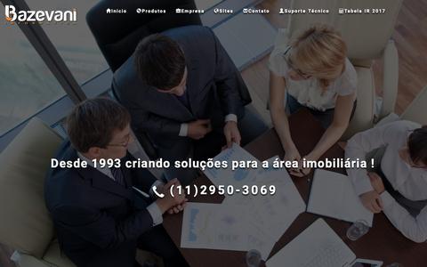 Screenshot of Home Page bazevani.com.br - Bazevani Informática Software e Websites para Imobiliaria - captured Oct. 23, 2018