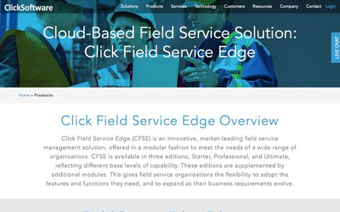 Products | ClickSoftware